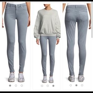 AG The Prima Mid Rise Cigarette Crop Jeans Gray